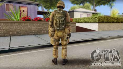 Desert Gafe Soldier Front 2 para GTA San Andreas segunda pantalla