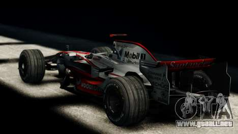 McLaren MP4-23 F1 Driving Style Anim para GTA 4 left
