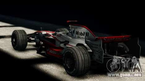 McLaren MP4-23 F1 Driving Style Anim para GTA 4 left