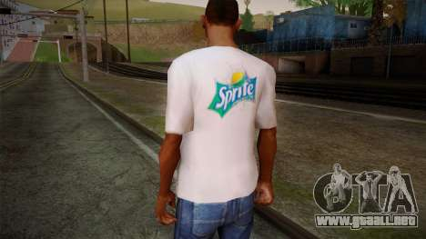Sprite Shirt White para GTA San Andreas segunda pantalla