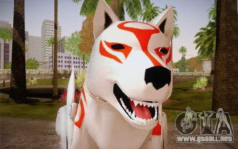 Amaterasu Okami para GTA San Andreas tercera pantalla