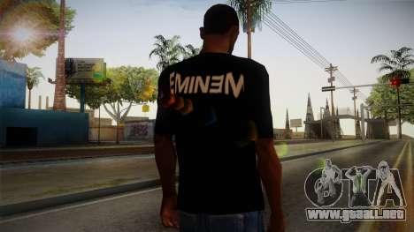 Eminem Fuck Off T-Shirt para GTA San Andreas segunda pantalla