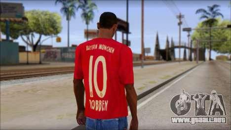 El Bayern De Munich 2013 T-Shirt para GTA San Andreas segunda pantalla