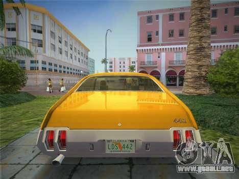 Oldsmobile 442 1970 para GTA Vice City vista lateral izquierdo
