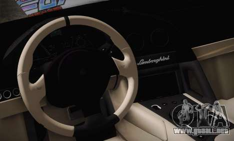 Lamborghini Reventon Black Heart Edition para GTA San Andreas interior