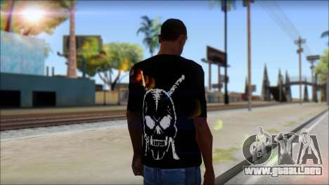 Black T-Shirt wBlack T-Shirt with middle finger para GTA San Andreas segunda pantalla