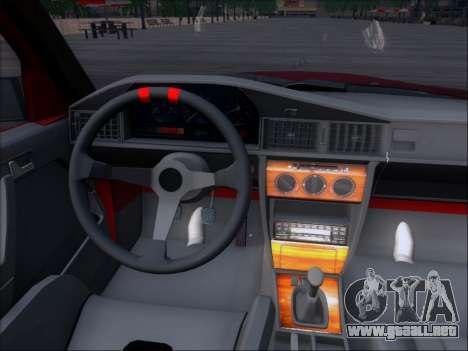 Mercedes Benz 190E Drift V8 para la vista superior GTA San Andreas
