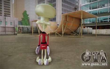 Squilliam from Sponge Bob para GTA San Andreas segunda pantalla