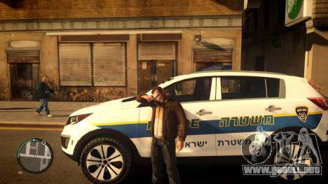 Kia Sportage Israel Police car (Mishtara) para GTA 4 left