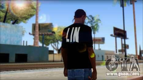 Jeremy Lin BAL-LIN T-Shirt para GTA San Andreas segunda pantalla