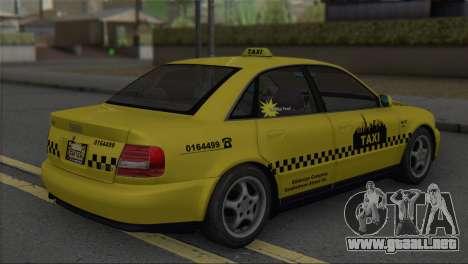 Audi A4 1.9 TDI 2000 Taxi para GTA San Andreas left
