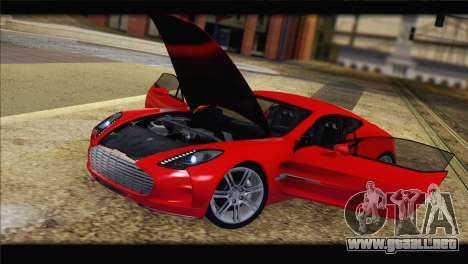 Aston Martin One-77 2010 para GTA San Andreas interior