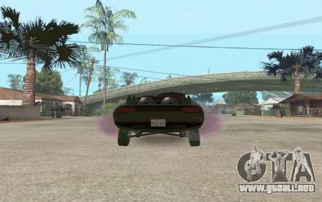 Interceptor para GTA San Andreas vista posterior izquierda