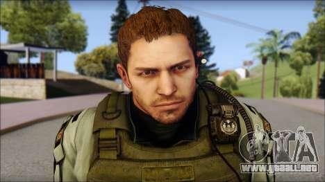 Chris Europa from Resident Evil 6 para GTA San Andreas tercera pantalla