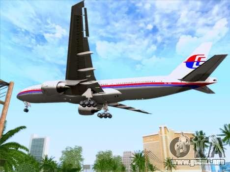 Boeing 777-2H6ER Malaysia Airlines para la vista superior GTA San Andreas