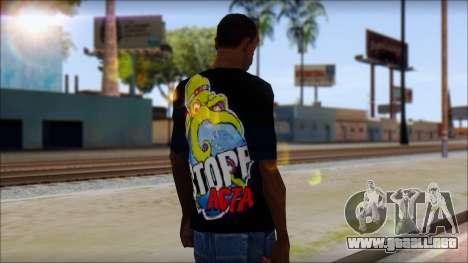 Anti ACTA T-Shirt para GTA San Andreas segunda pantalla