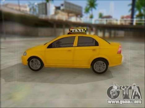 Chevrolet Aveo Taxi para la visión correcta GTA San Andreas