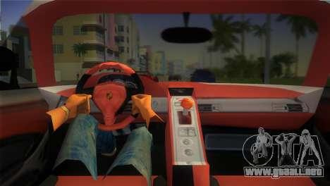 Porsche Carrera GT Police para GTA Vice City visión correcta