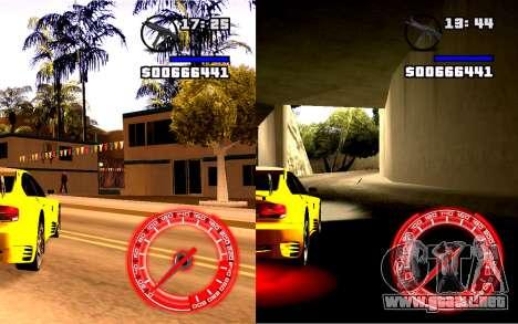 Velocímetro Concepto StyleV4x3 para GTA San Andreas segunda pantalla