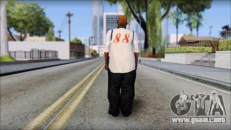 Big Smoke Beta para GTA San Andreas segunda pantalla