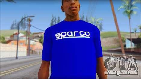 Sparco T-Shirt para GTA San Andreas tercera pantalla