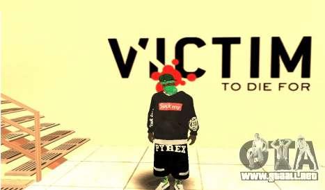 Grove Street Gang Skin pack para GTA San Andreas sucesivamente de pantalla