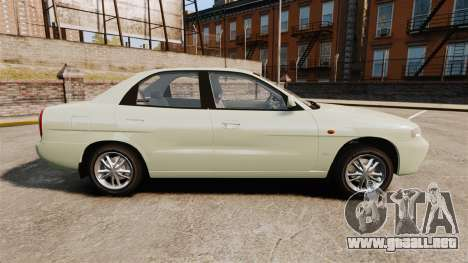 Daewoo Nubira I Sedan CDX PL 1997 para GTA 4 left
