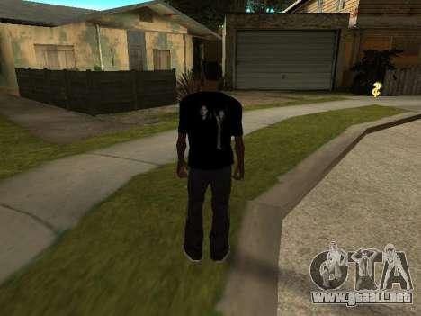 T-Shirt Sobrenatural para GTA San Andreas segunda pantalla