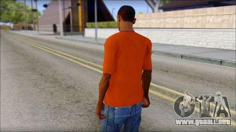 Fred Perry T-Shirt Orange para GTA San Andreas segunda pantalla