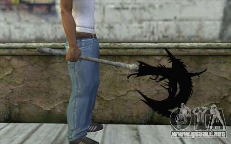 Dante Demonic Axe para GTA San Andreas tercera pantalla