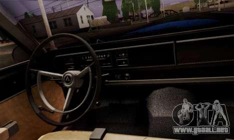 Dodge Coronet 440 Hardtop Coupe (WH23) 1967 para GTA San Andreas vista hacia atrás