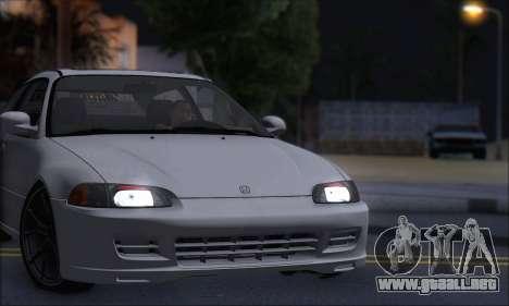 Honda Civic 1995 para la visión correcta GTA San Andreas