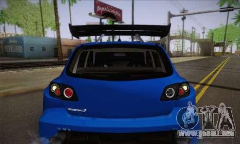 Mazda Speed 3 Tuning para vista lateral GTA San Andreas