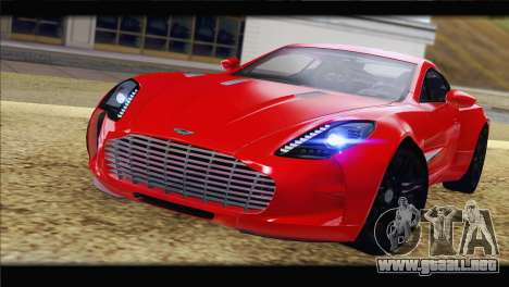 Aston Martin One-77 2010 para la visión correcta GTA San Andreas