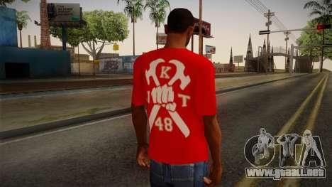 JKT48 Hardcore T-Shirt para GTA San Andreas segunda pantalla