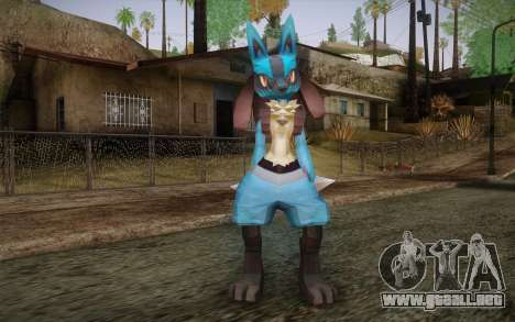 Lucario from Pokemon para GTA San Andreas