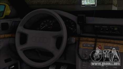 Audi A4 1.9 TDI 2000 Taxi para GTA San Andreas vista posterior izquierda