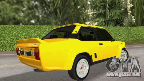 Fiat 131 Abarth Rally 1976 para GTA Vice City left