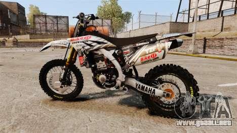 Yamaha YZF-450 v1.15 para GTA 4 left