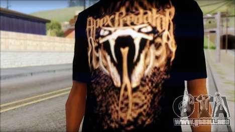 Randy Orton Black Apex Predator T-Shirt para GTA San Andreas tercera pantalla
