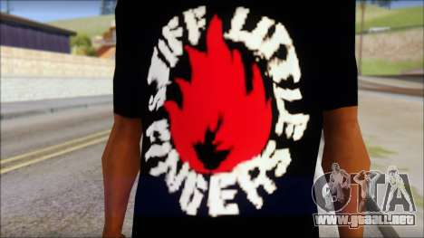 Stiff Little Fingers T-Shirt para GTA San Andreas tercera pantalla