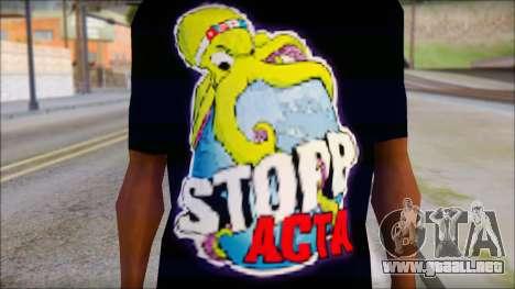 Anti ACTA T-Shirt para GTA San Andreas tercera pantalla