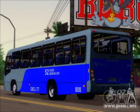 Neobus Spectrum City Mercedes Benz OF-1722 para la visión correcta GTA San Andreas