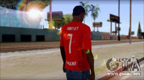 Seleccion Chilena T-Shirt 2010 para GTA San Andreas segunda pantalla