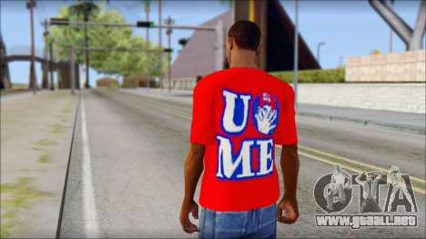 John Cena Red Attire T-Shirt para GTA San Andreas segunda pantalla