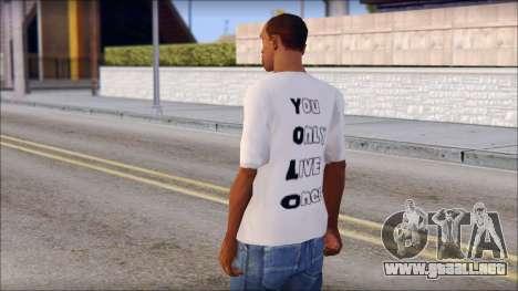 YOLO T-Shirt para GTA San Andreas segunda pantalla