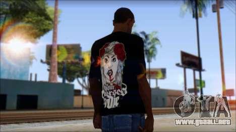 Your Curses Die Fan T-Shirt para GTA San Andreas segunda pantalla