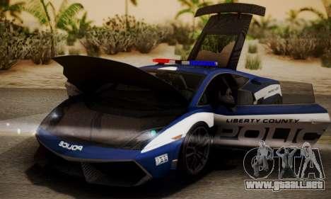 Lamborghini Gallardo LP570-4 2011 Police para la visión correcta GTA San Andreas