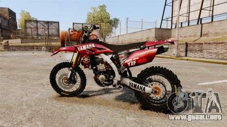 Yamaha YZF-450 v1.11 para GTA 4 left