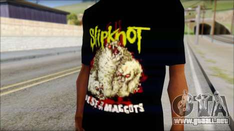 SlipKnoT T-Shirt v5 para GTA San Andreas tercera pantalla